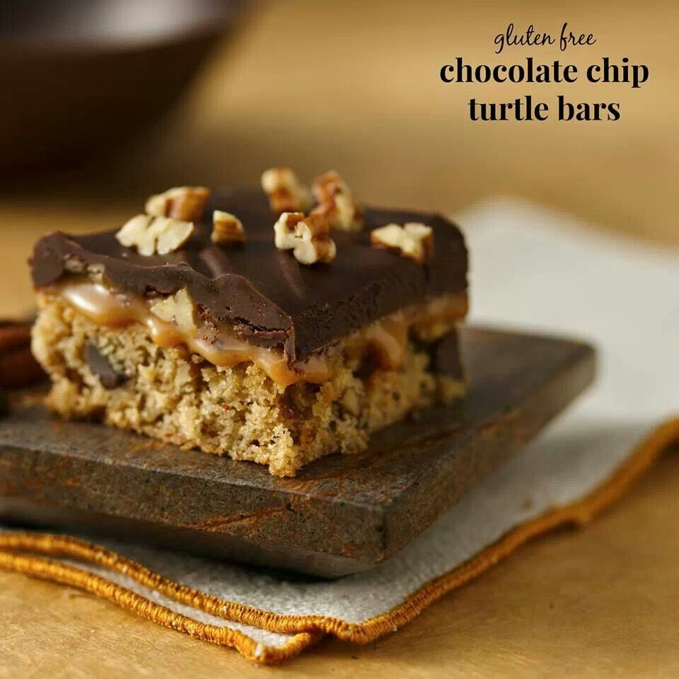 Chocolate chip turtle bars | Recipes | Pinterest