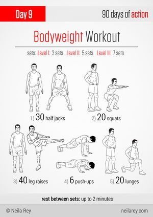Body weight workout fitness 2 90 day action plan pinterest