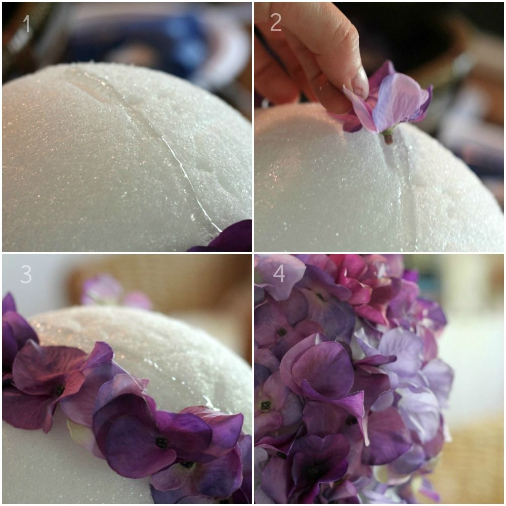 Diy flower ball decorations that thing pinterest for Ball decoration ideas