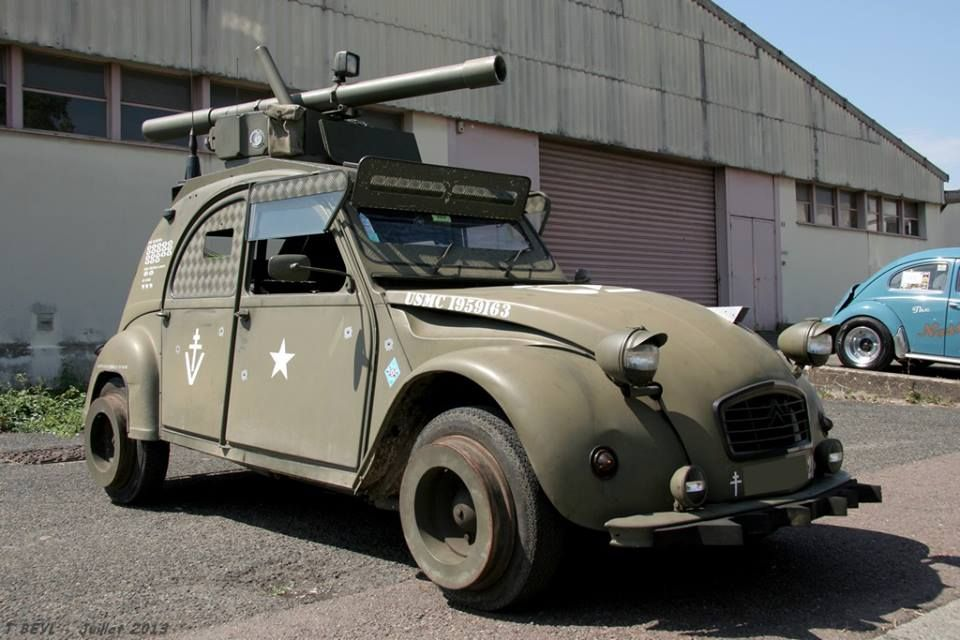 armoured citroen 2cv car stuff pinterest. Black Bedroom Furniture Sets. Home Design Ideas