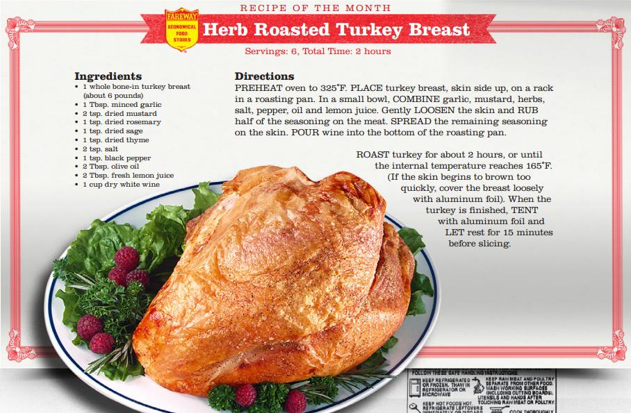 Herb Roasted Turkey Breast | Good Food! | Pinterest