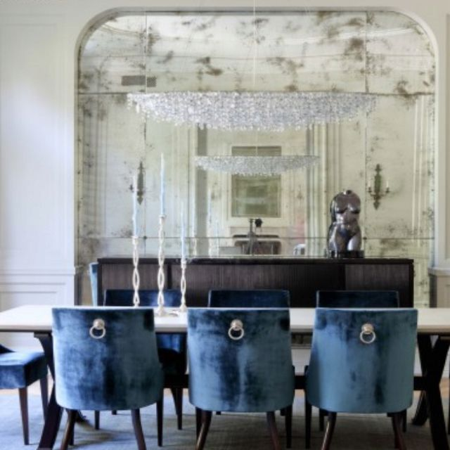 Pin by rachael miller dietz on for the home pinterest for Dining room velvet chairs