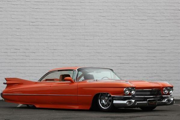1959 burnt orange color cadillac whips pinterest
