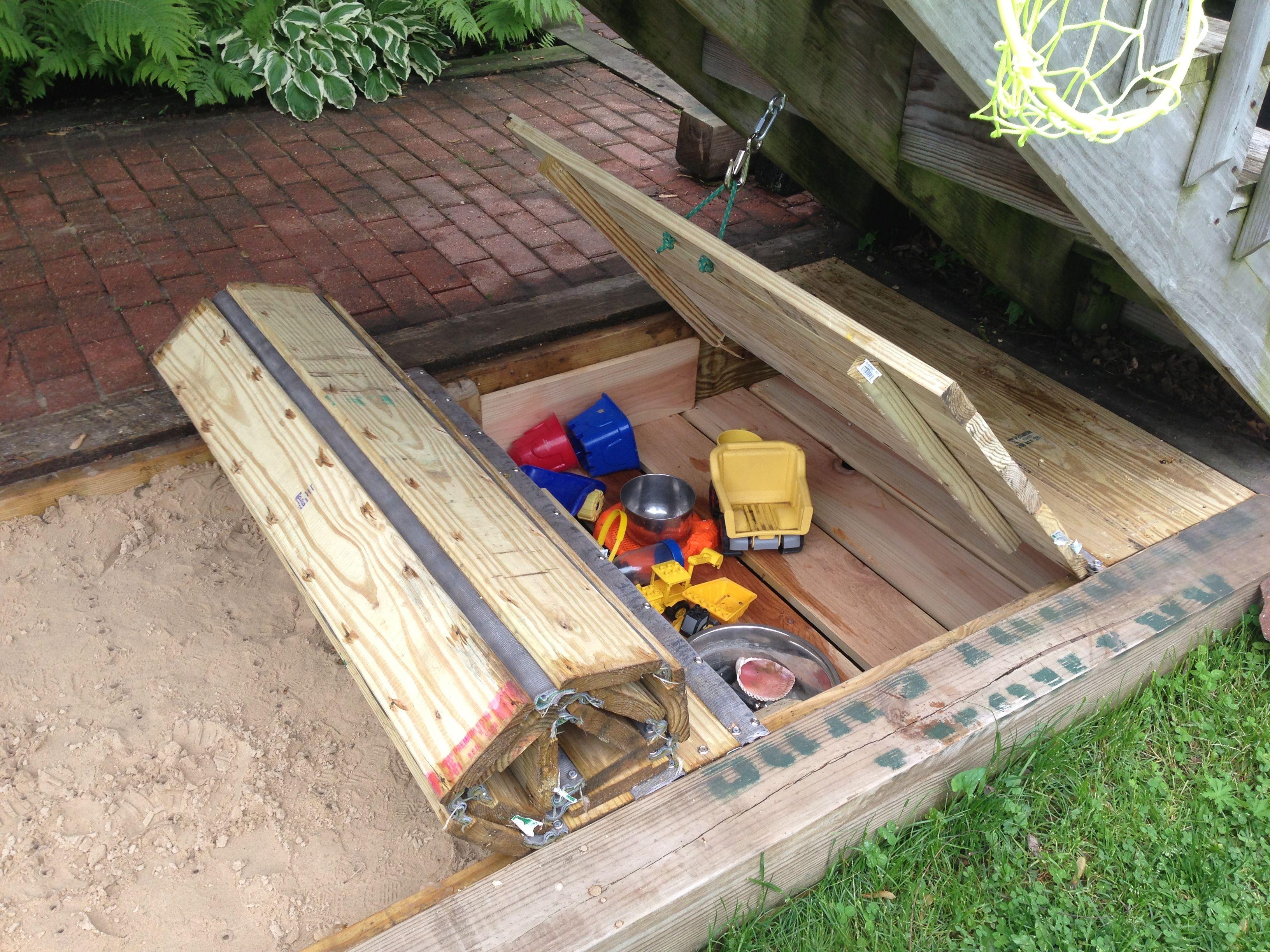 ... sandbox cover w/ toy box | Yard and Garden Ideas | Pinter
