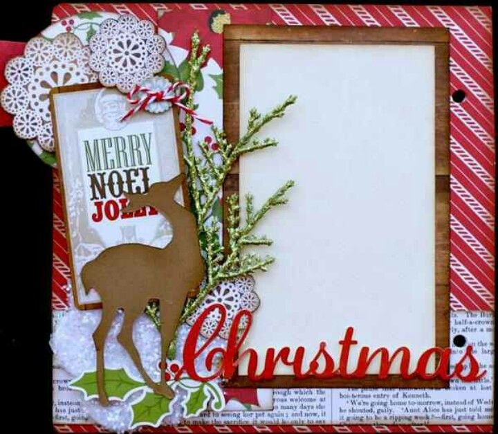 Christmas scrapbook page sketches pinterest for Christmas layout ideas