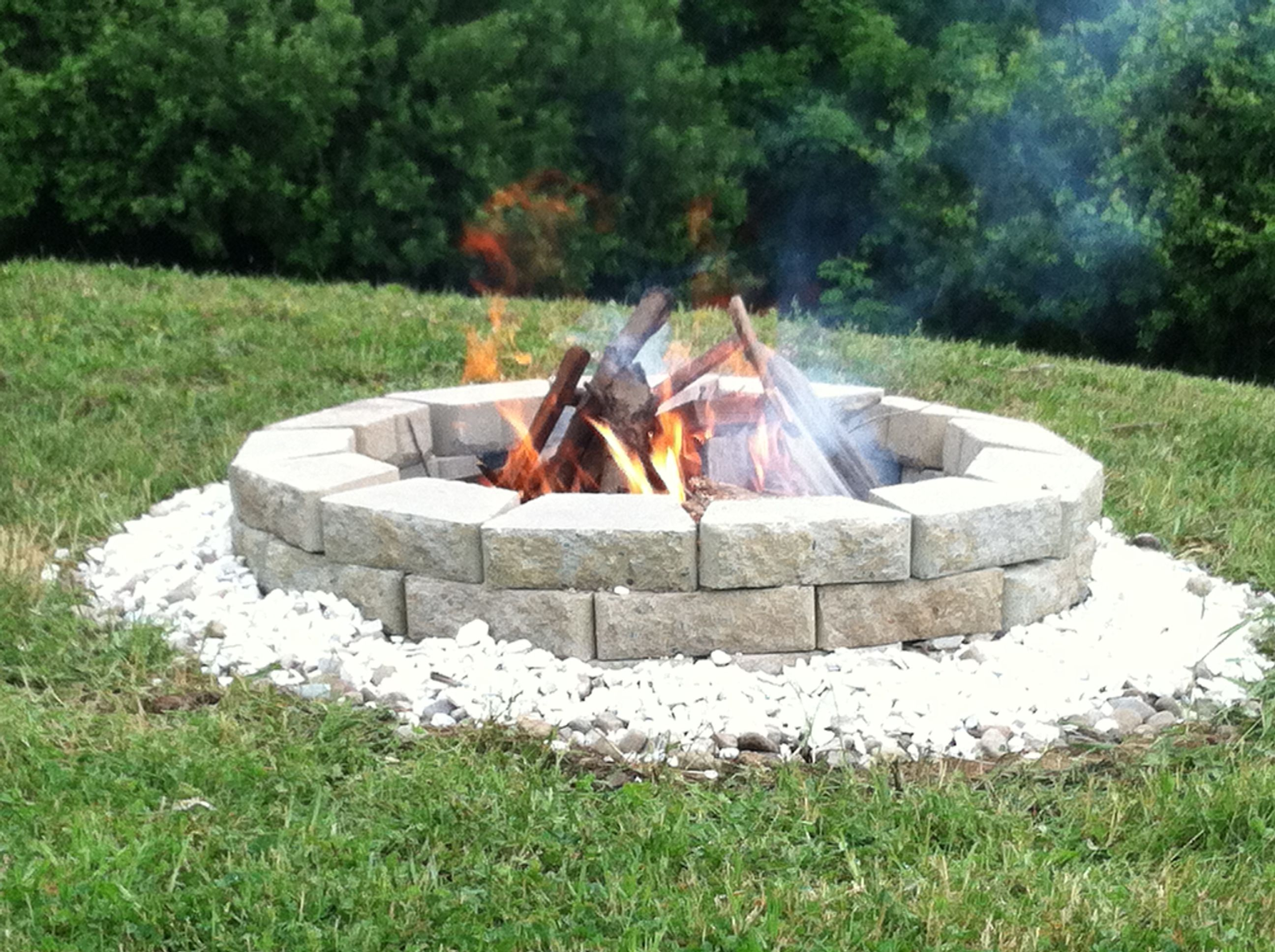 homemade fire pit a well stocked home pinterest