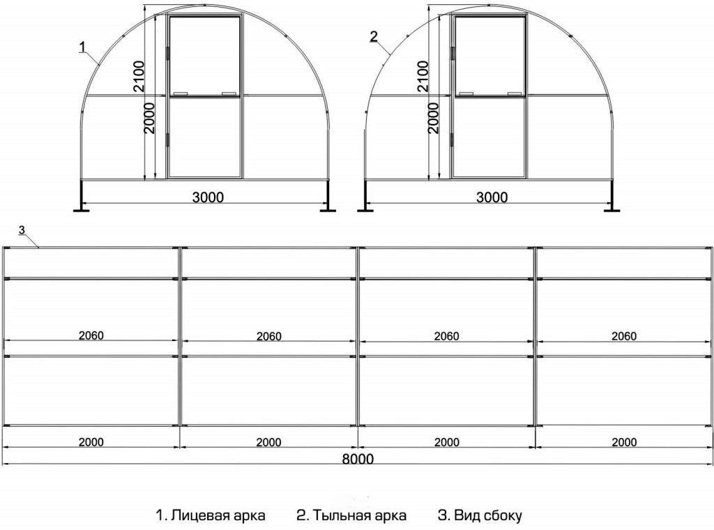 Как сделать теплицу из поликарбоната своими руками из профильной трубы 7