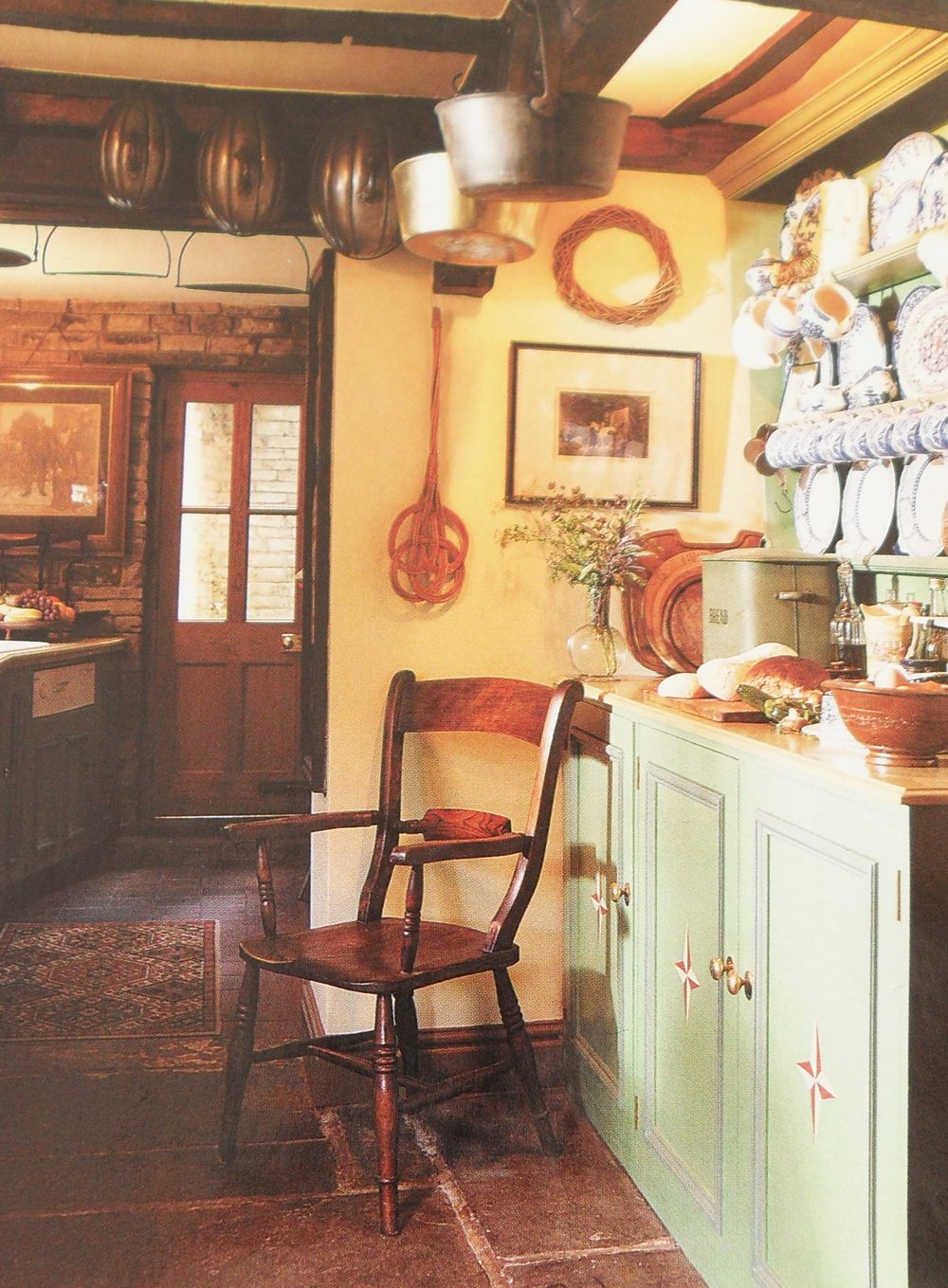 English Country Cottage Kitchen Long Hairstyles