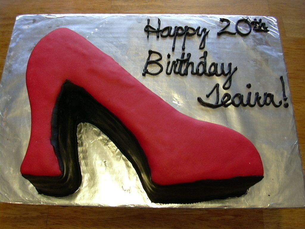 high heel birthday cake ideas