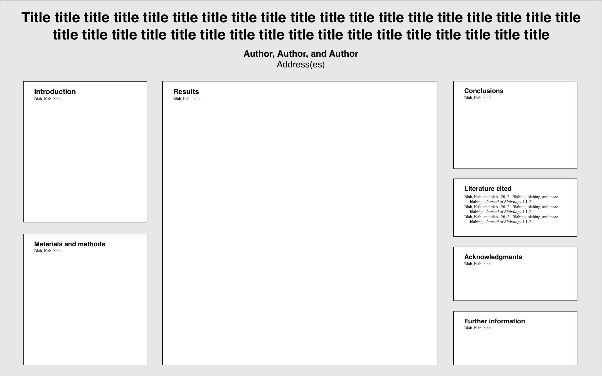 Template for poster presentations on outreach