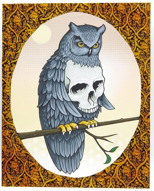 Jeremy fish owl skull skull crazy pinterest for Jeremy fish art