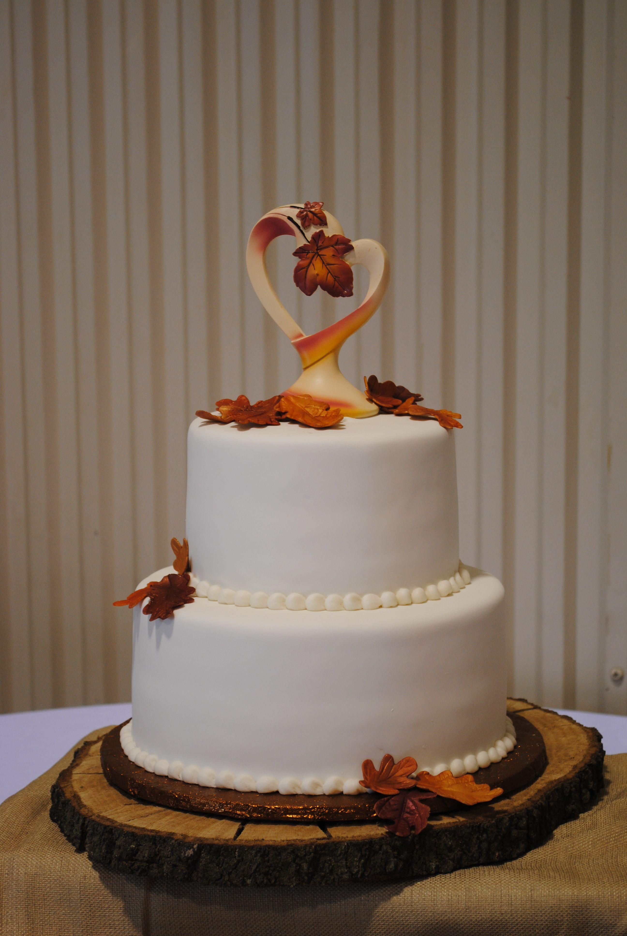 Fall leaf simple cake Contemporary Wedding Cakes