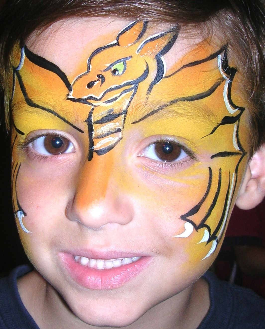 Dragon face painting pinterest for Painting ideas for boys