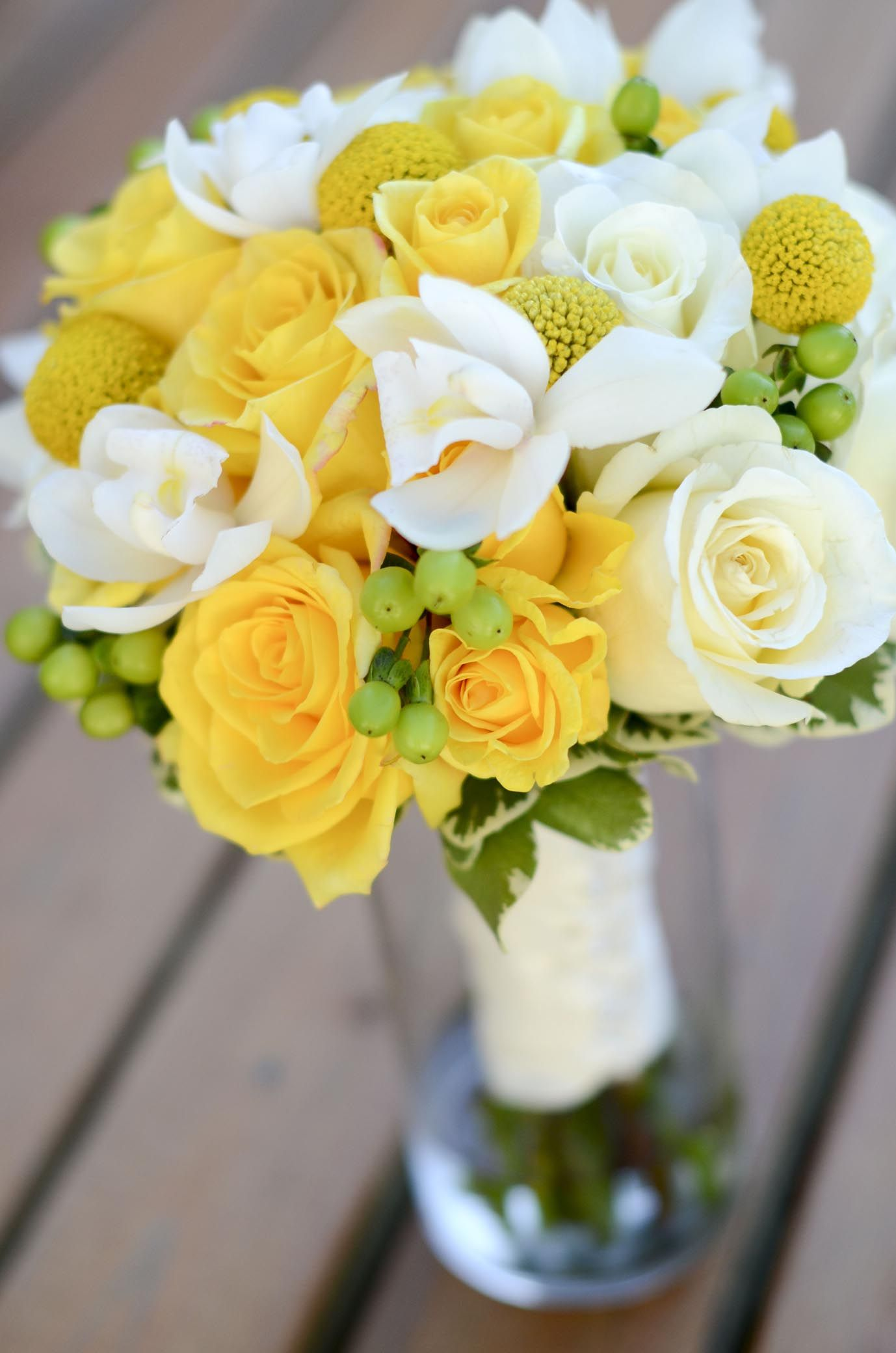 White And Yellow Flowers Bouquet Pin by Katherin...