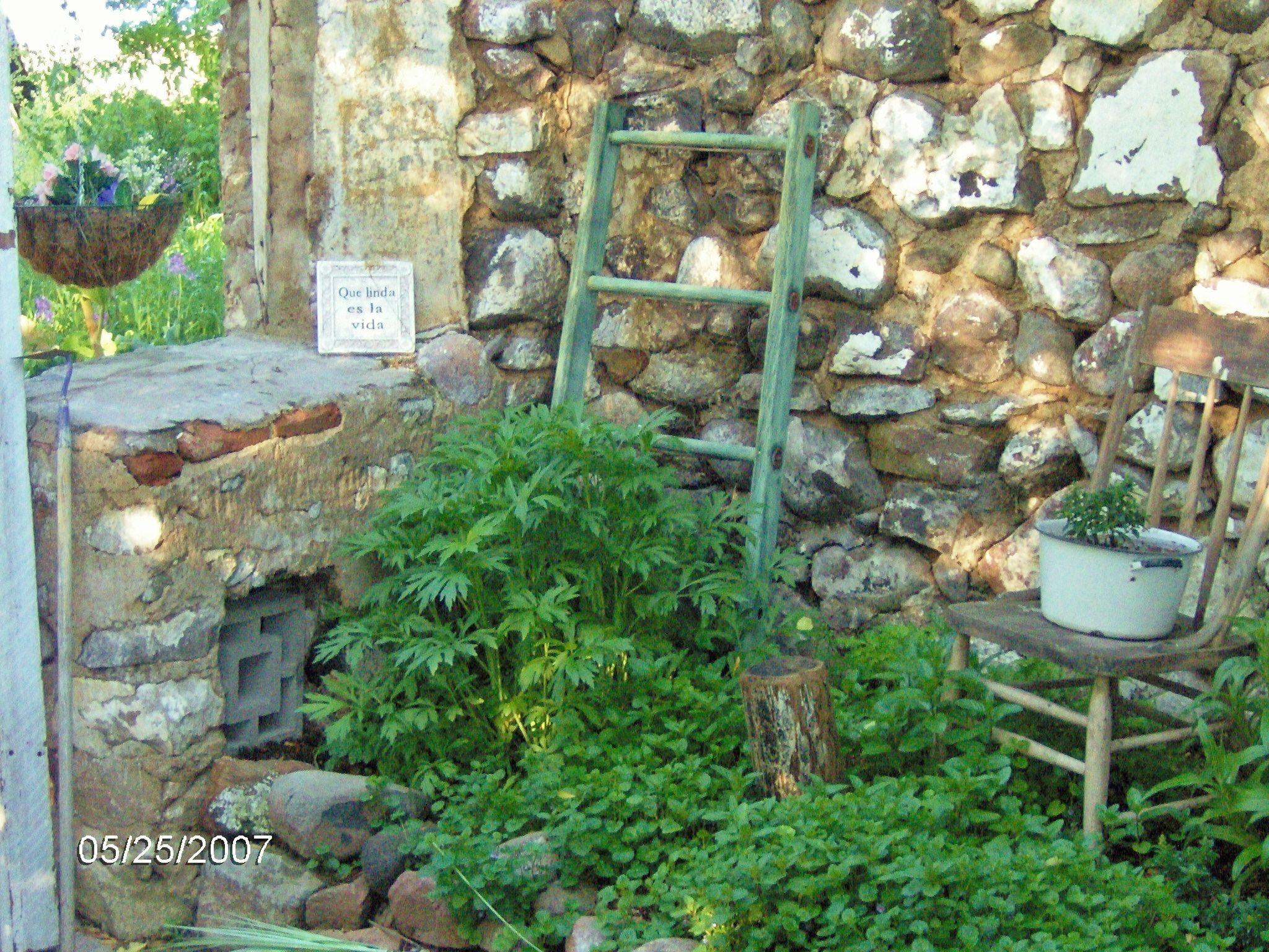 Garden Junk Backyard Living Pinterest