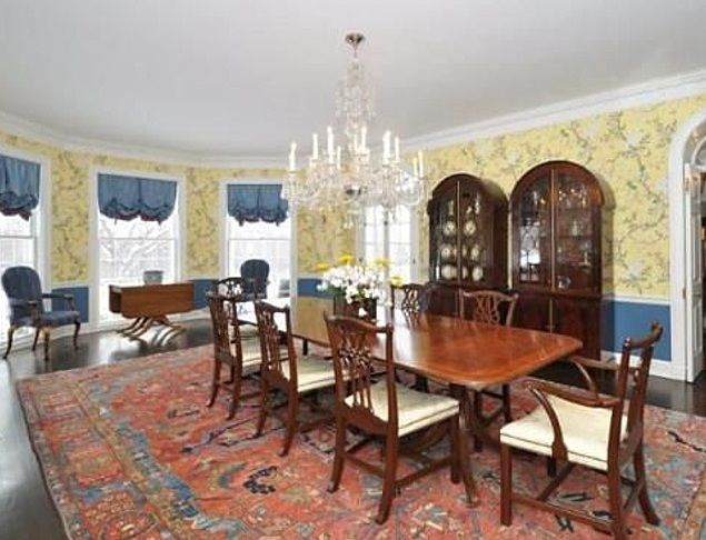 Red, yellow, blue dining room | Rooms by color: Red