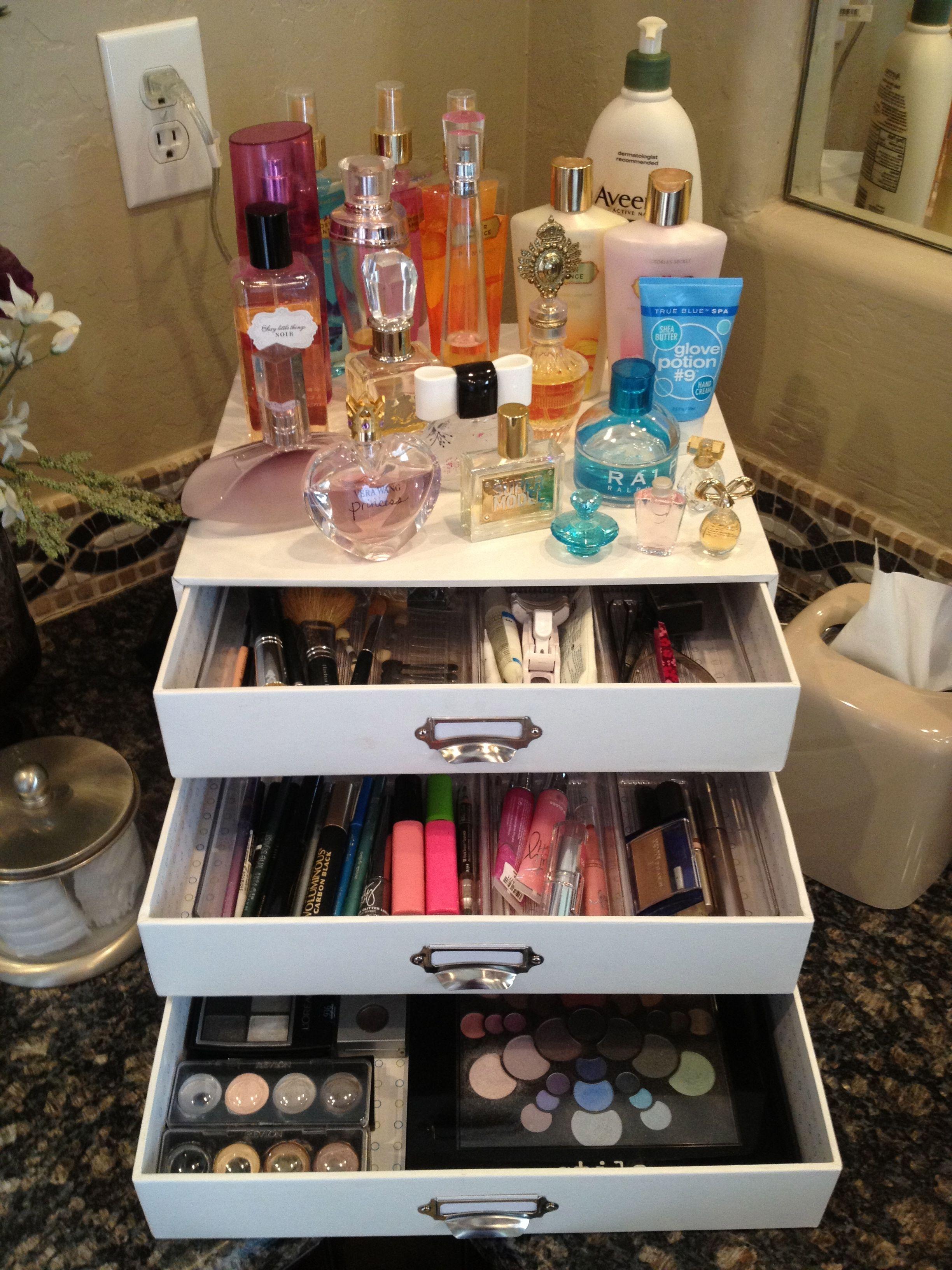 Makeup Organizer Vanity Makeup Organization Pinterest