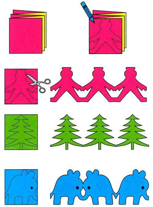Какую можно сделать гирлянду своими руками из бумаги 71
