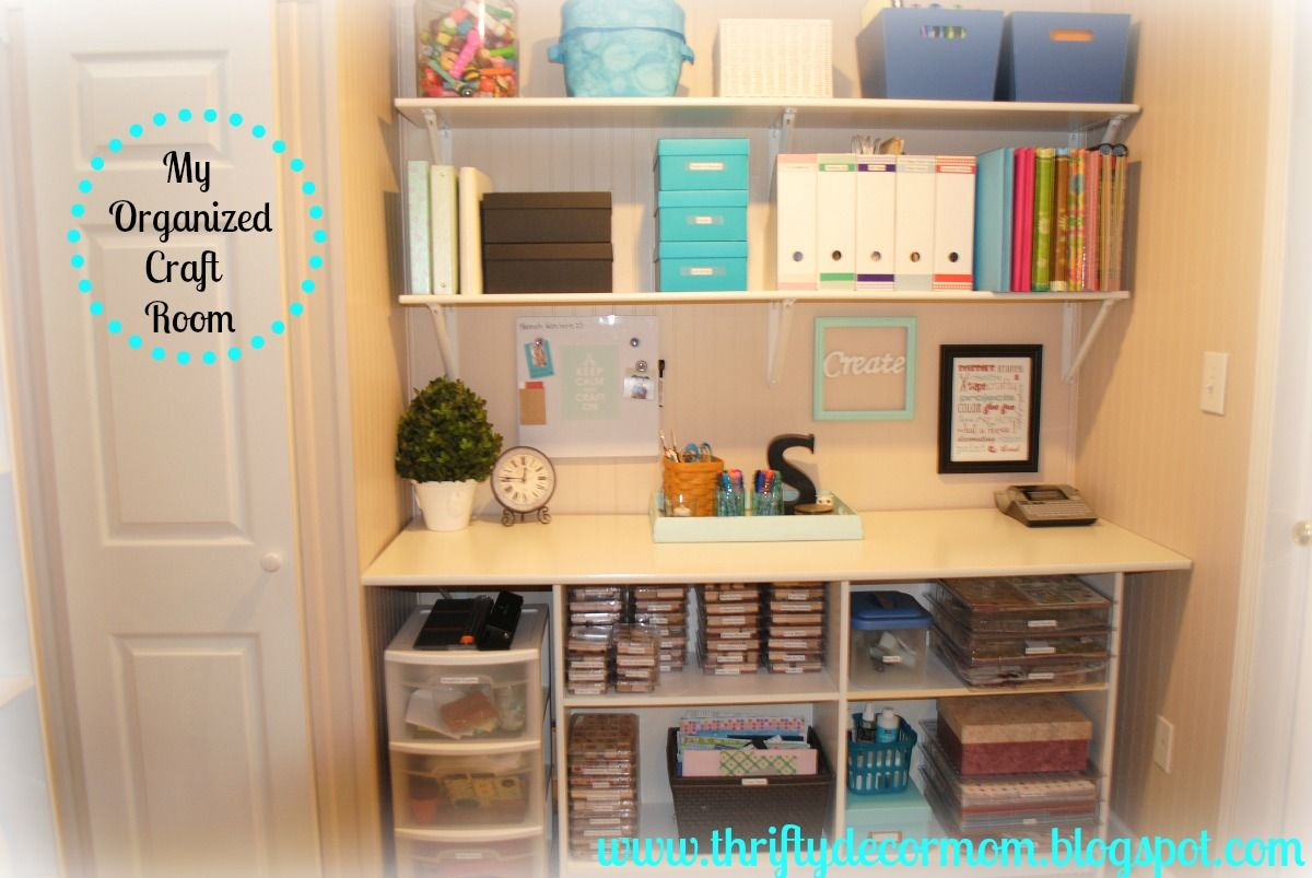 My craft room organization crafts pinterest for Organizing living room family picture ideas