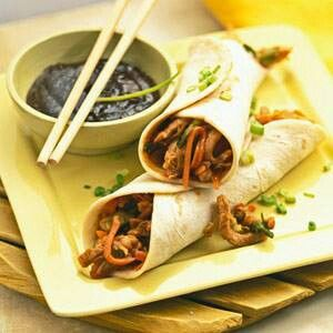 Mushu pork roll ups   Food Recipes   Pinterest