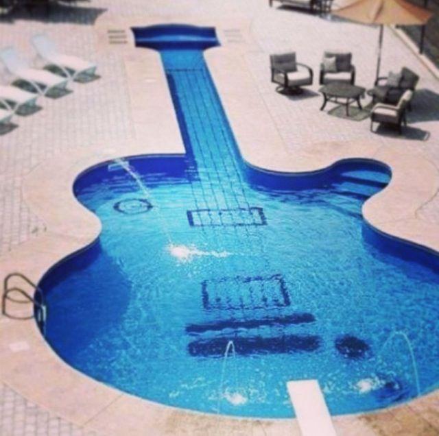Guitar Shaped Pool Home Sweet Home Pinterest