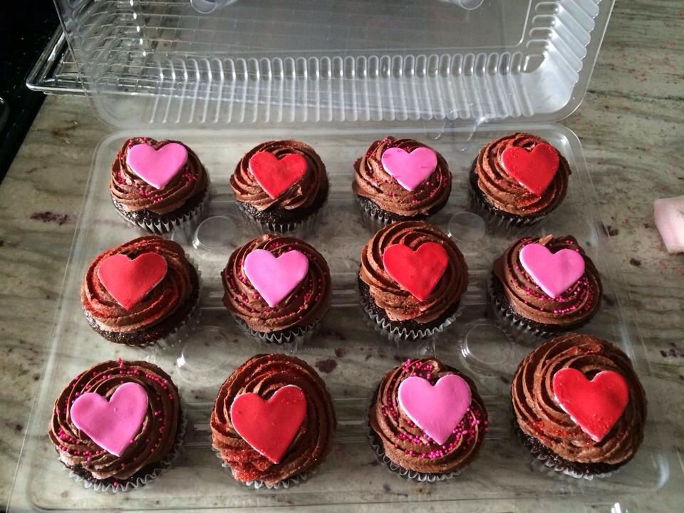 valentine day baked goods