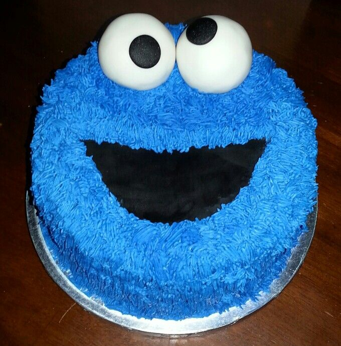 Cookie monster cake. | By my hands | Pinterest