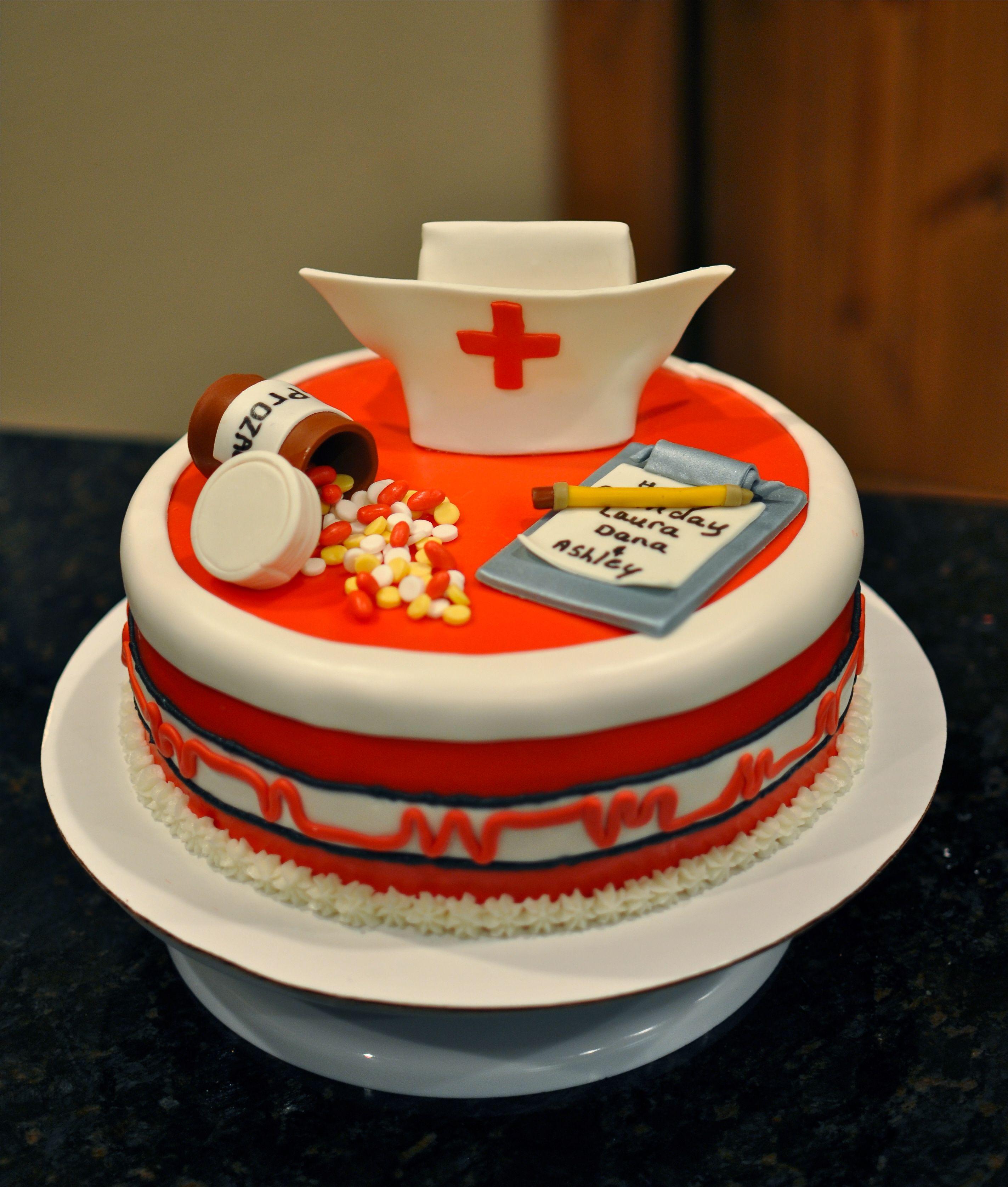 Nurses birthday cake My Cakes - Facebook.com/cakebyorder ...
