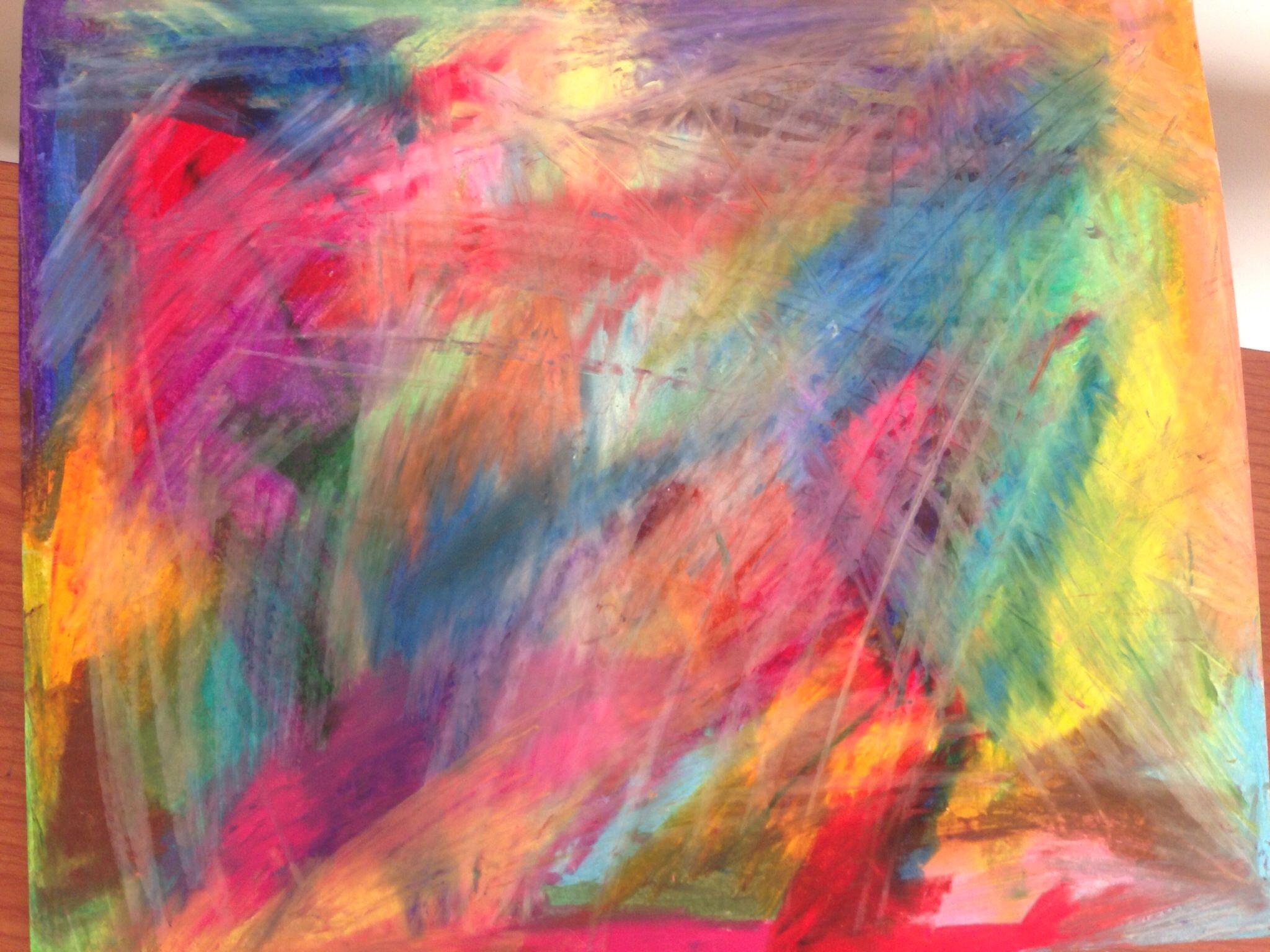 Abstract Oil Pastel. | Art | Pinterest