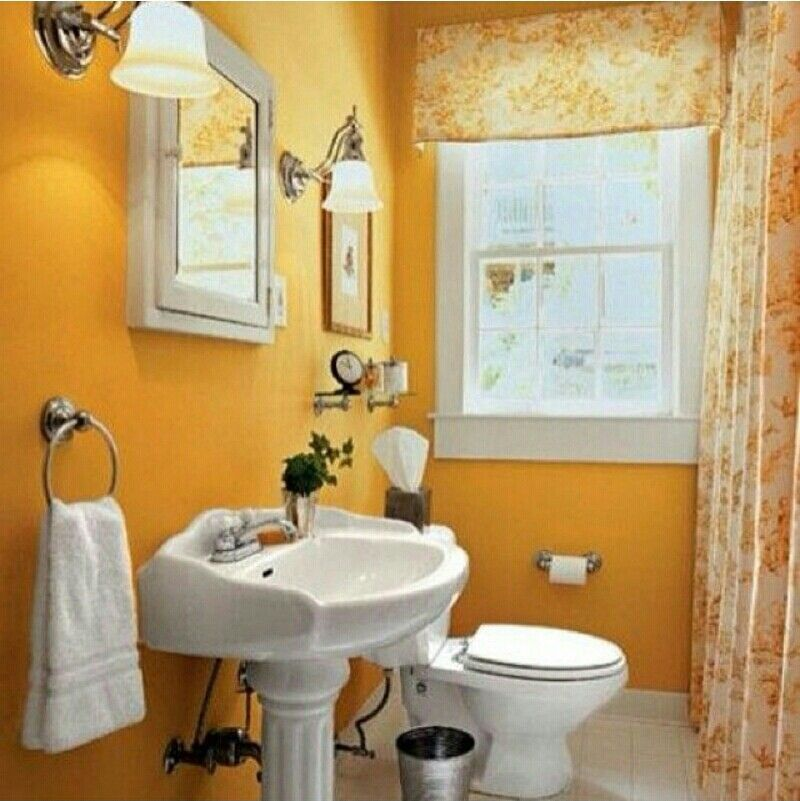 Pinterest home decor ideas bathrooms 2015 home design ideas for Small yellow bathroom ideas