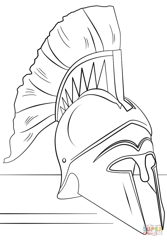 Similiar Roman Soldier Helmet Coloring Page Keywords