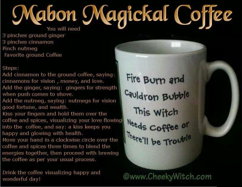 Mabon magical coffee | Fantasie Drink / warm cold adult | Pinterest