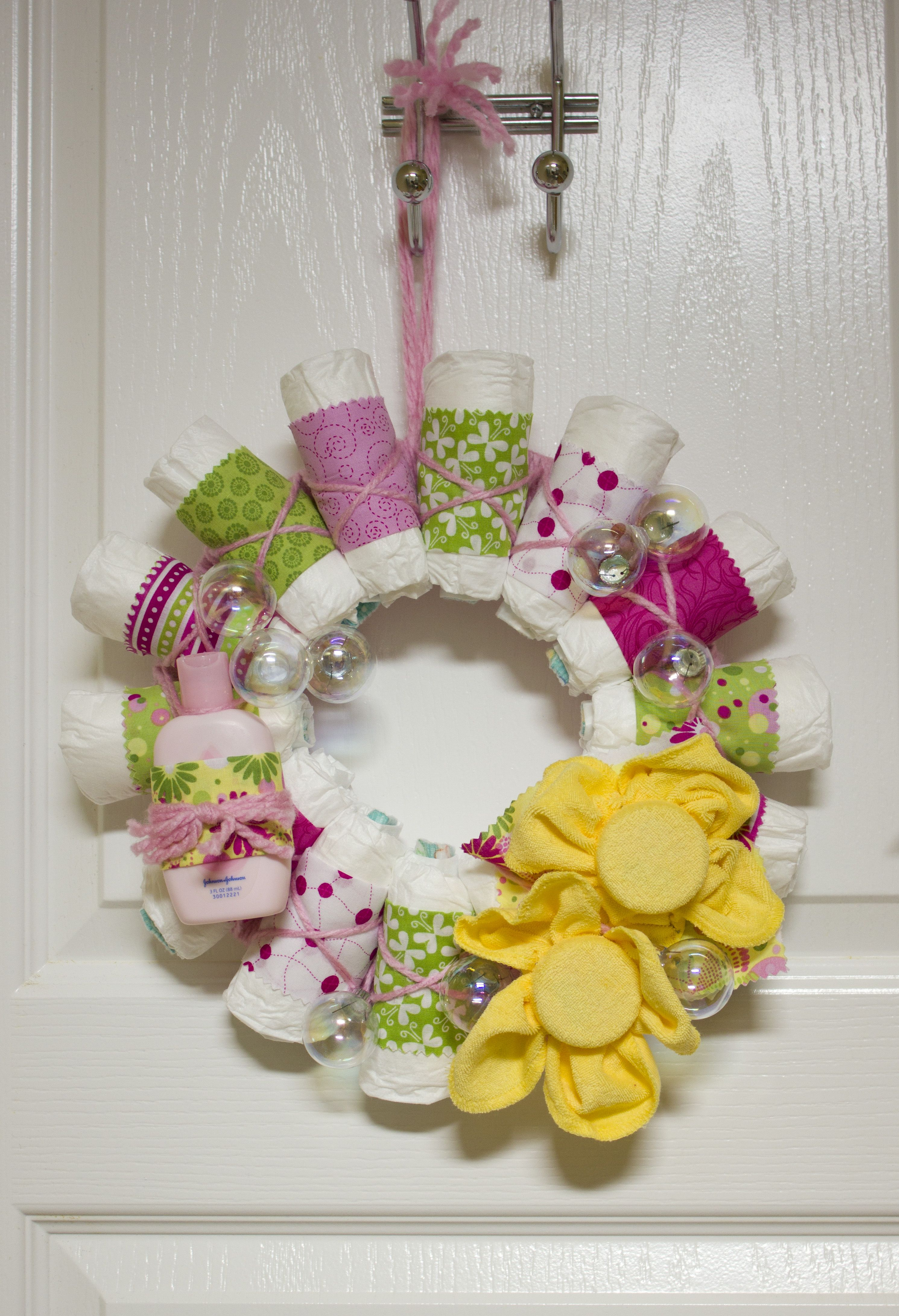 baby shower diaper wreath bath time baby shower ideas pinterest