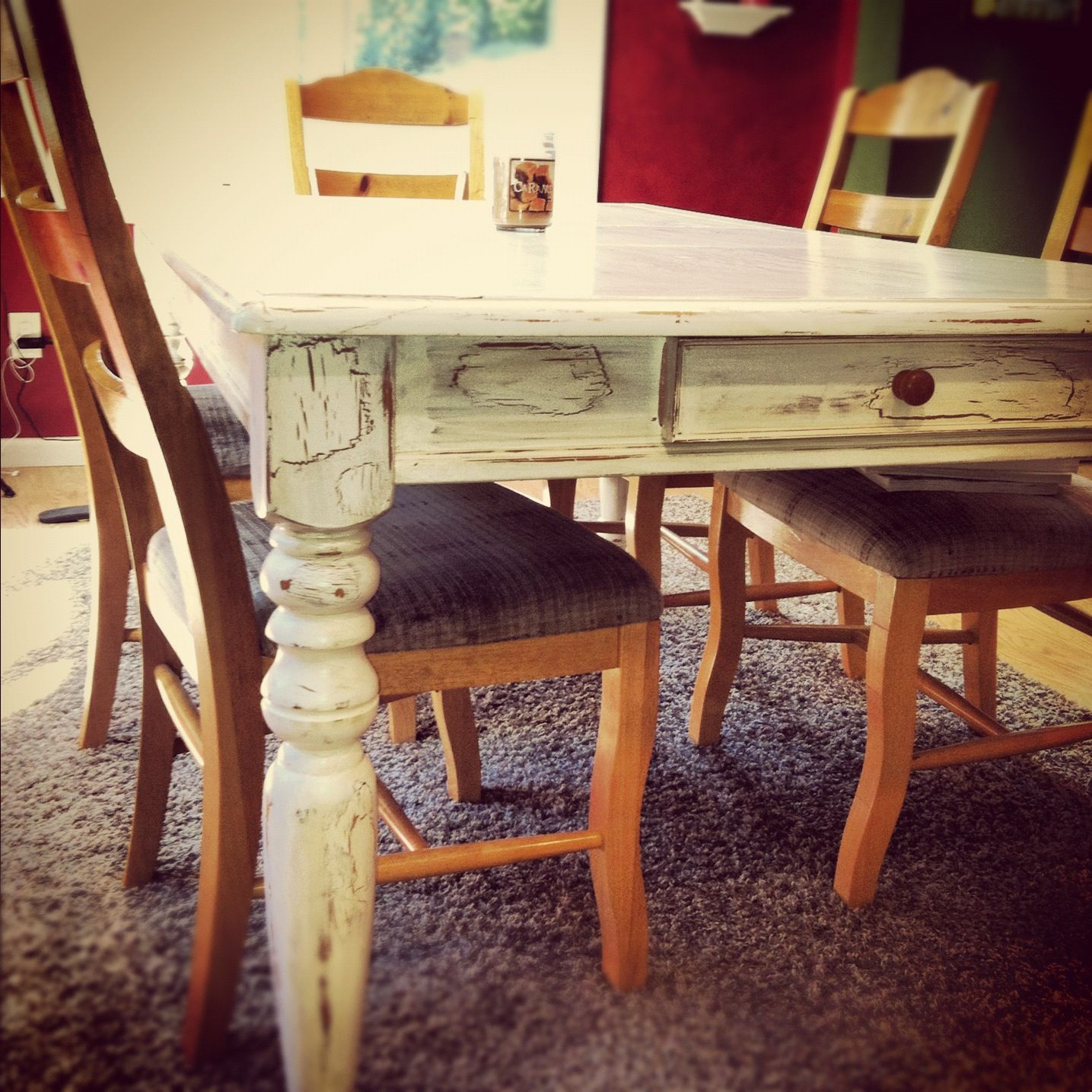 Paint kitchen table pinterest crafts - Building kitchen table ...