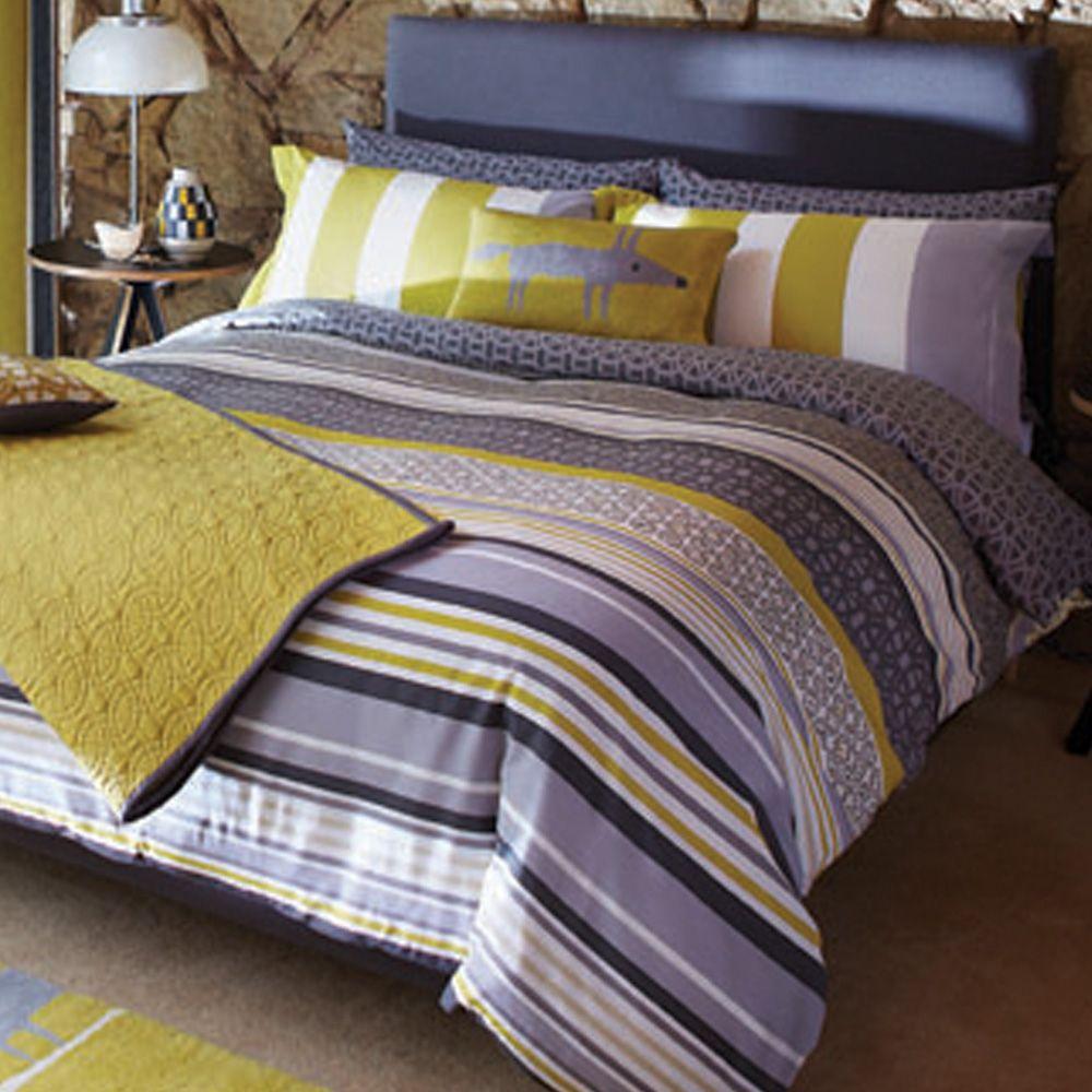 Scion Lace Stripe bedding | Interior Inspiration | Pinterest
