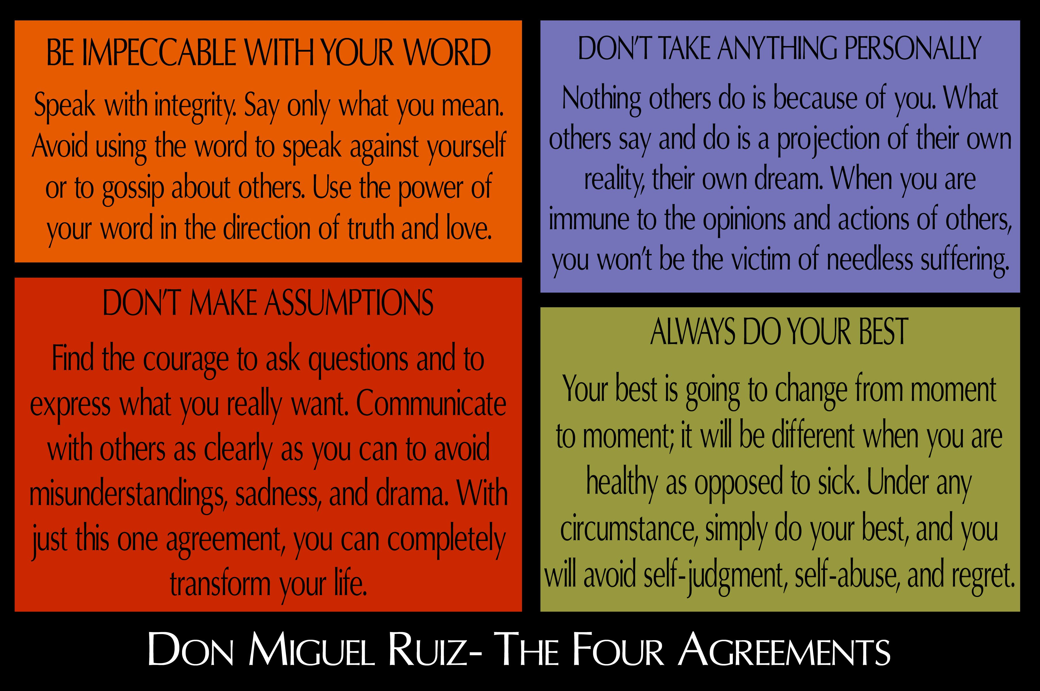 The Four Agreements Quotes QuotesGram