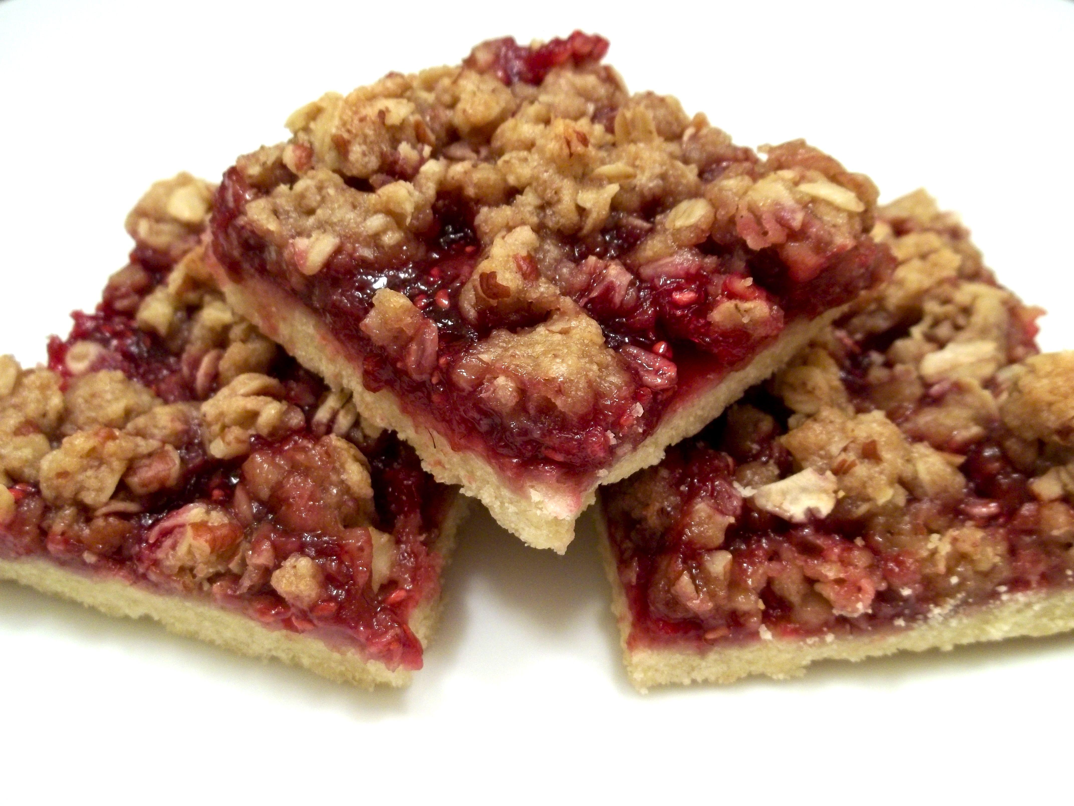 Raspberry streusel bars | Yum! | Pinterest