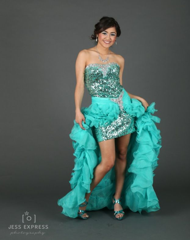 Beautiful, ruffled and sparkly prom dress! | Dresses ...