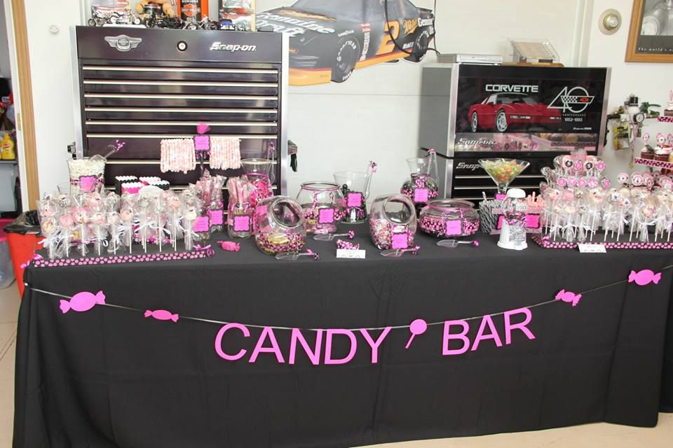 candy table decorations for shelby 39 s party candy buffet pinterest. Black Bedroom Furniture Sets. Home Design Ideas
