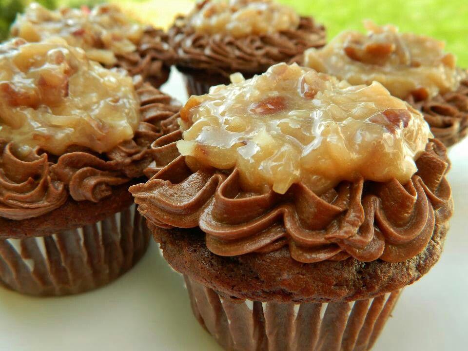 German chocolate cupcakes | Sweet Treats | Pinterest