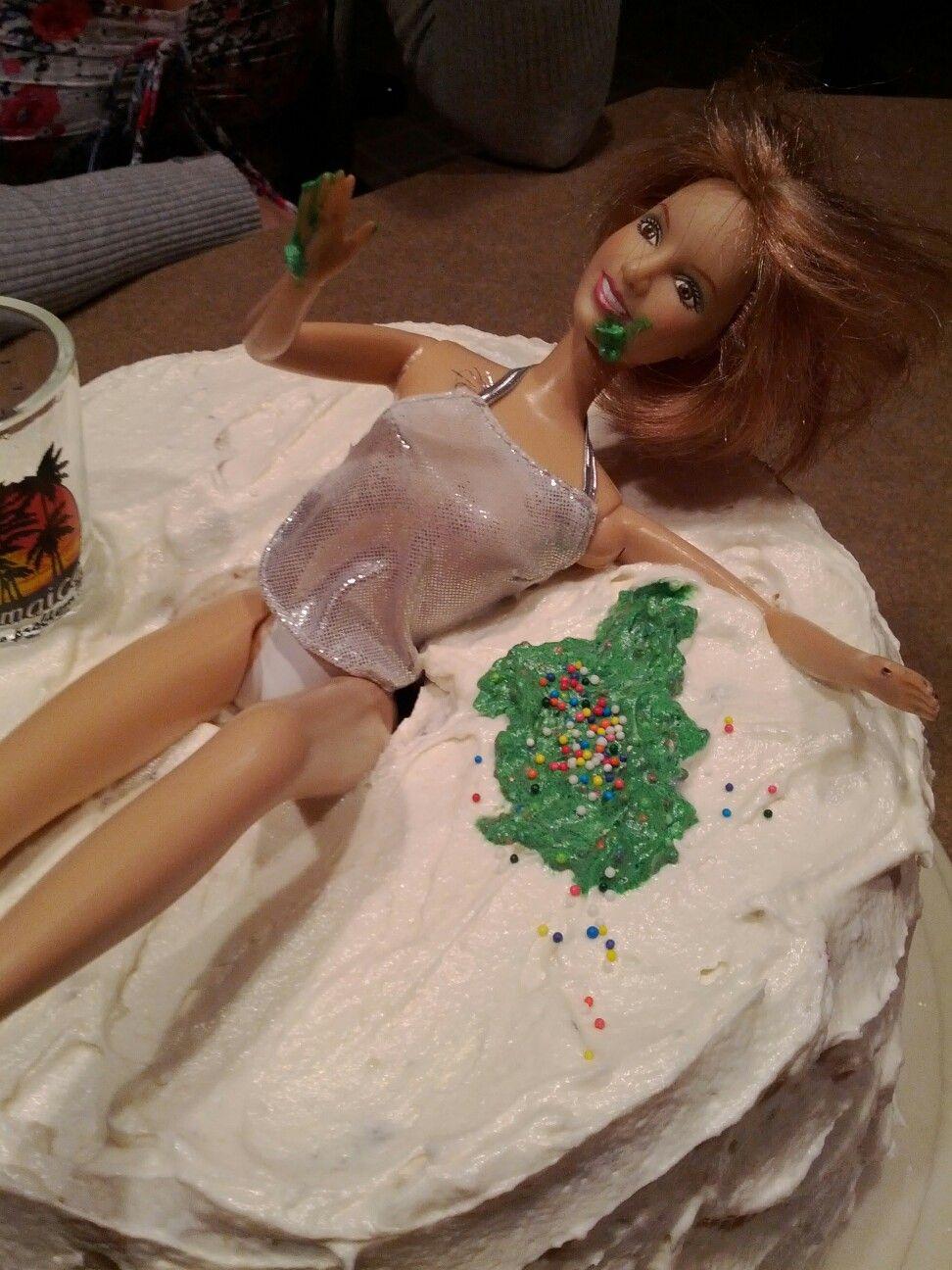Drunk barbie cake cake ideas and designs