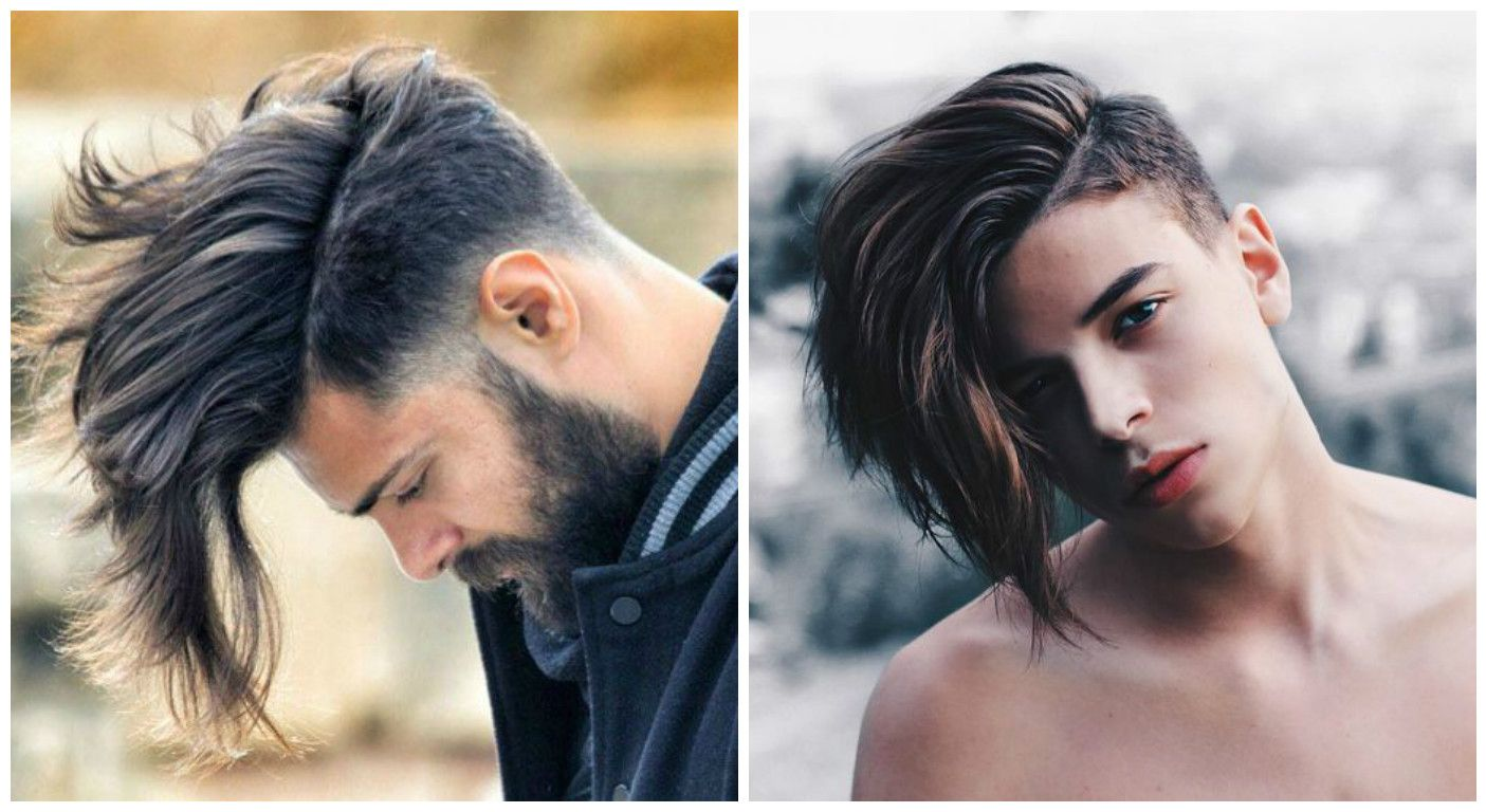 Мужские прически с длинными волосами и выбритыми висками