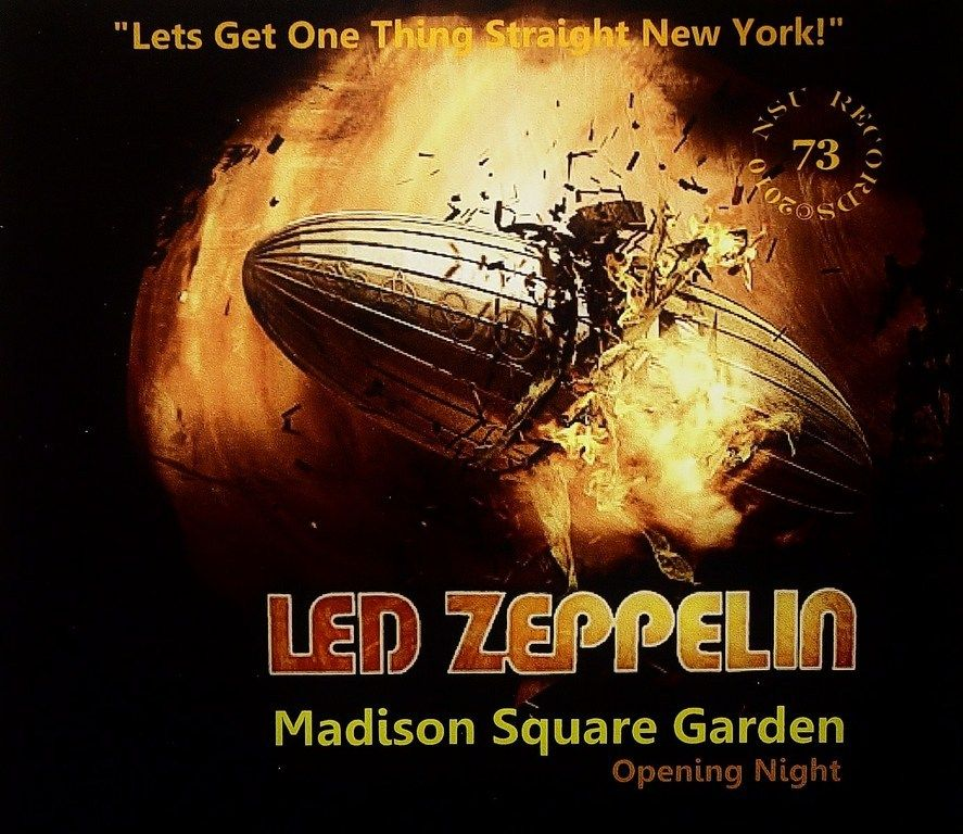 Madison Square Garden Opening Night 1973 Led Zeppelin Pinterest