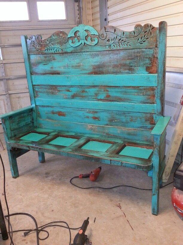 Headboard Footboard N Old Door Bench Diy Furniture Pinterest