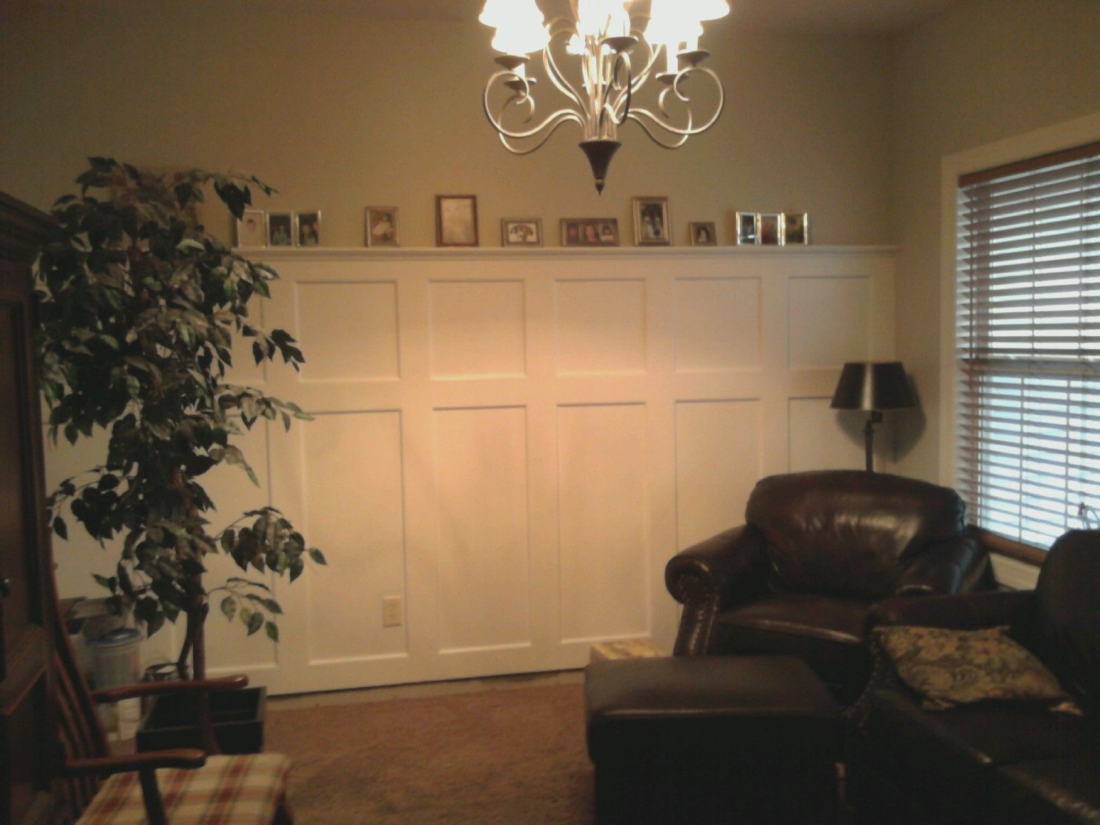 Wainscoting dining room by my husband decor pinterest for Dining room wainscoting
