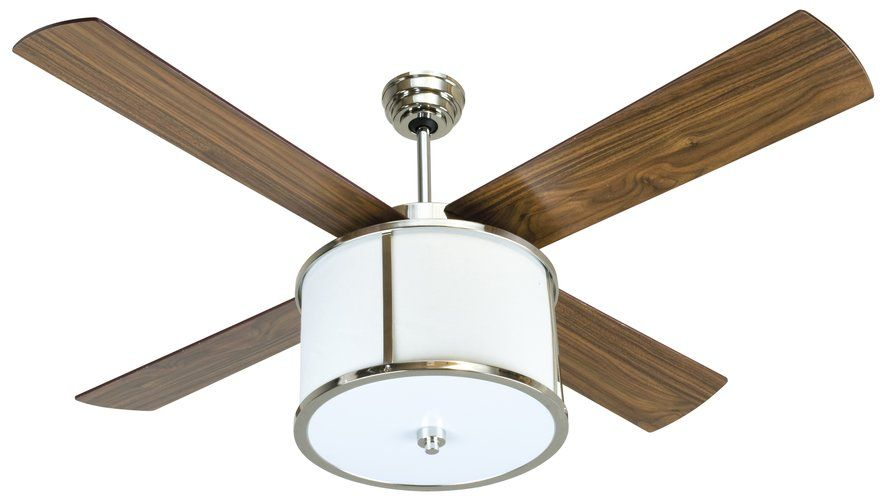Ceiling Fan w light drum Bedroom
