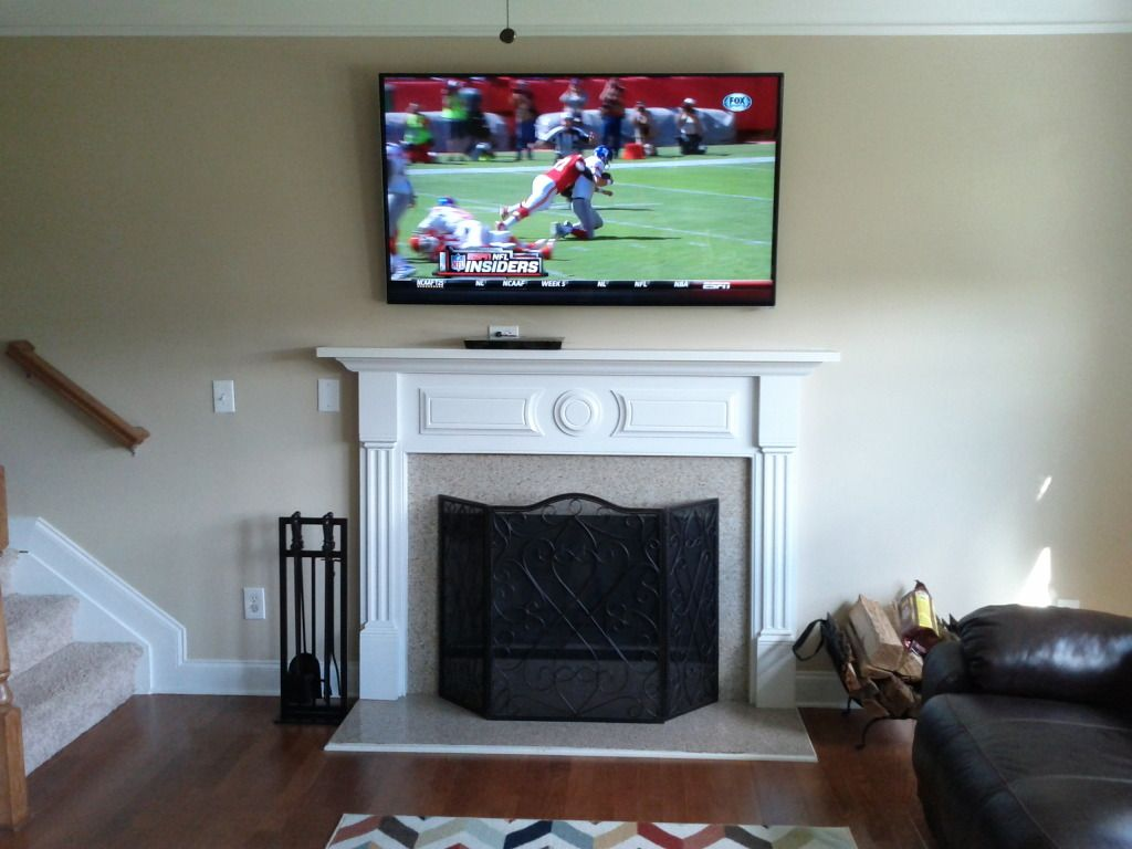 tv over fireplace install current installations pinterest