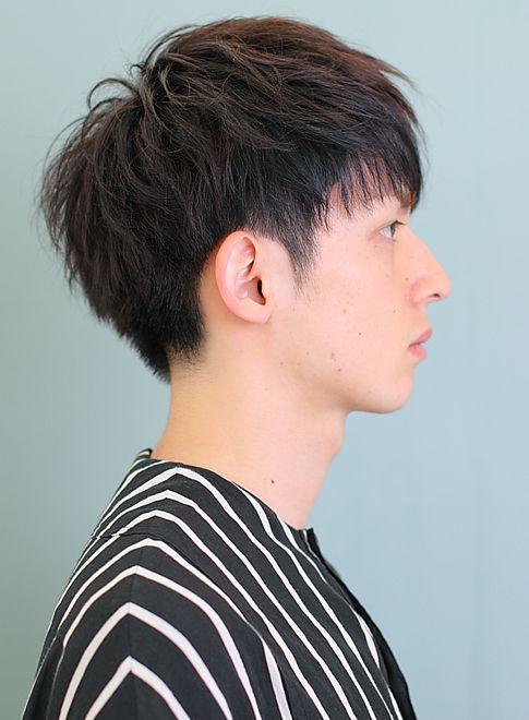刈り上げ 髪型 メンズ ショート ツーブロック 黒髪