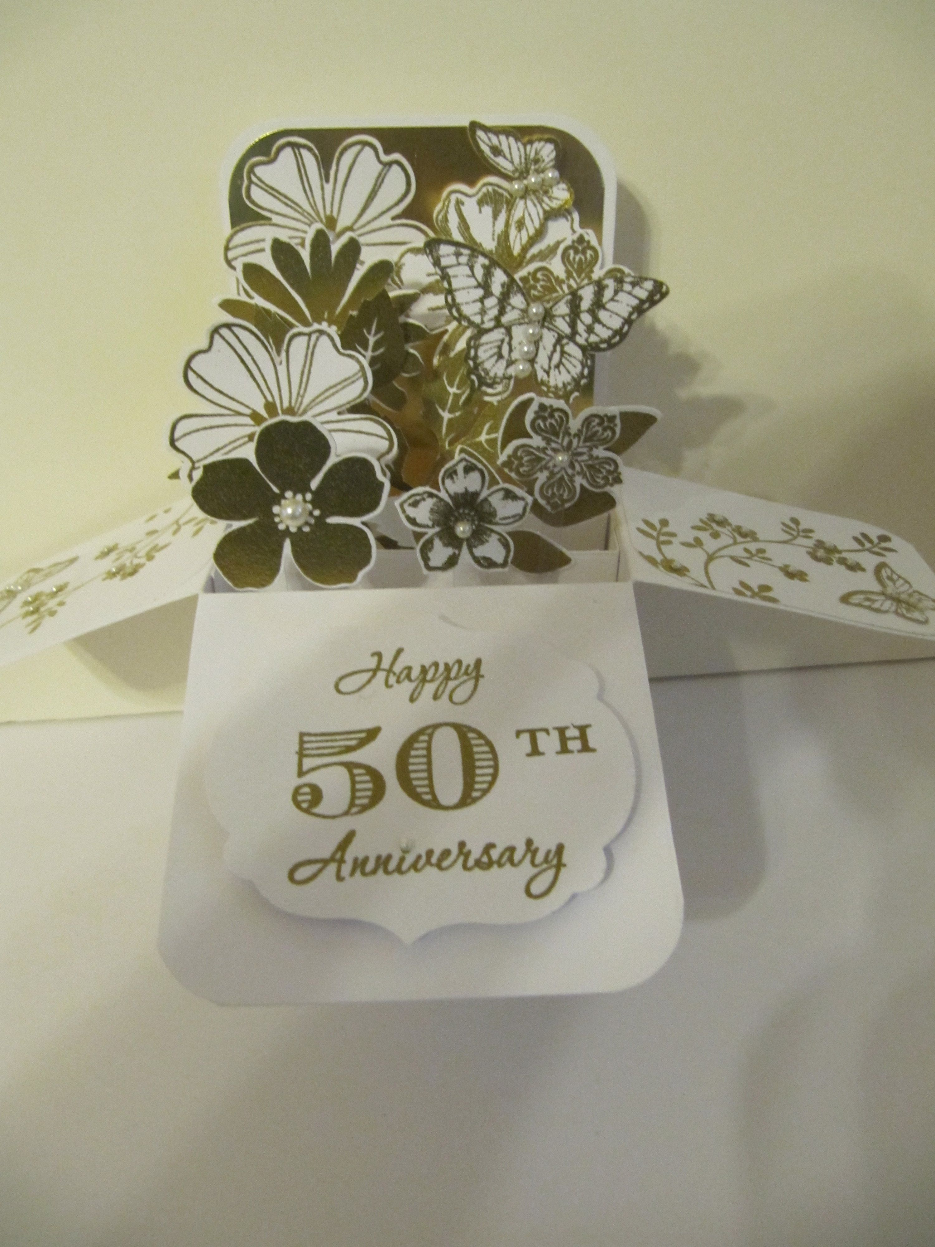 50th Wedding Anniversary Ideas Pinterest : Card in a Box 50th Wedding Anniversary CARD IDEAS Pinterest