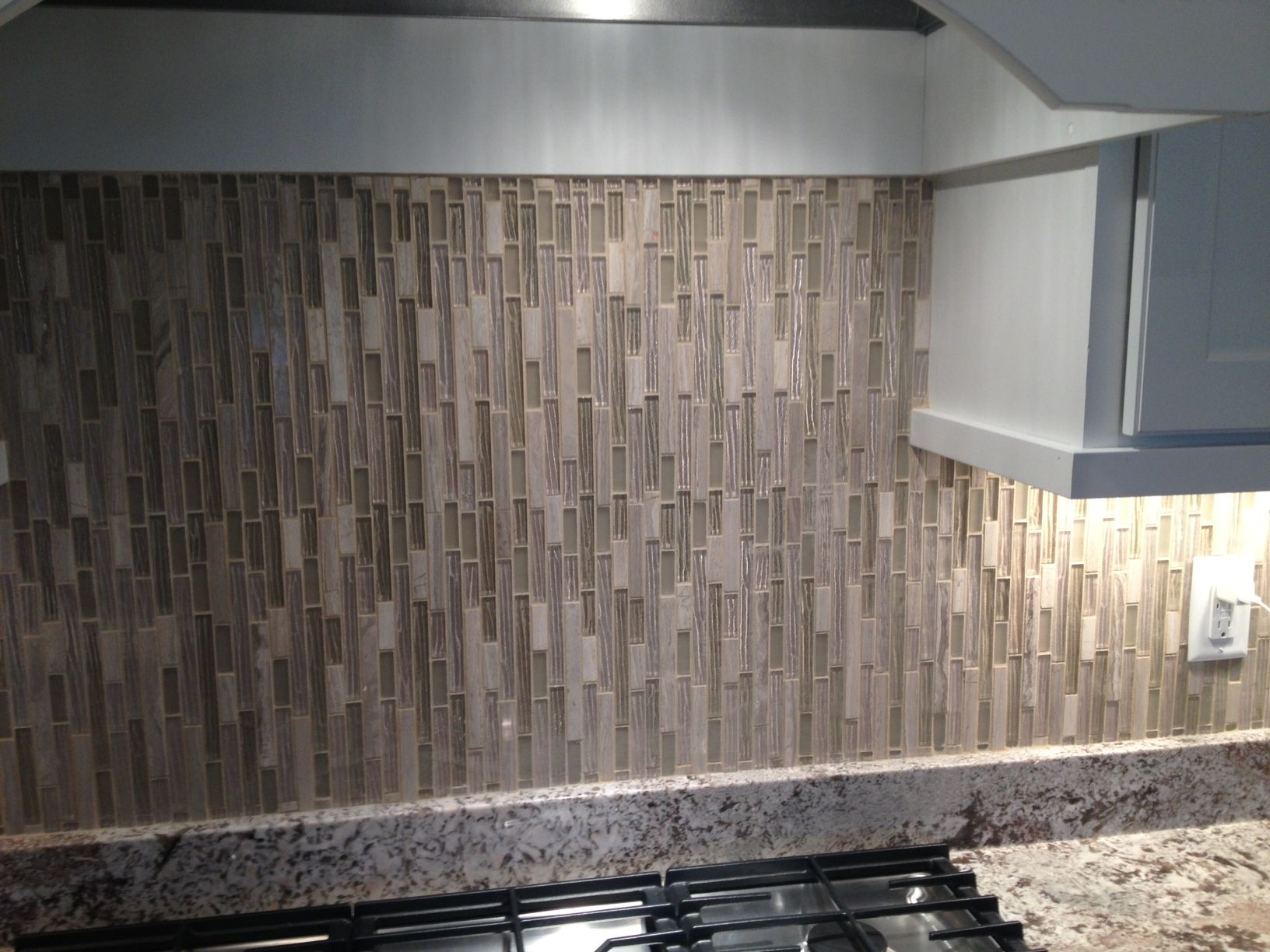 vertical glass tile backsplash pinterest
